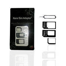 Nano SIM Card to Micro Standard Adapter Adaptor Converter Set For Iphone 4S 5 5S