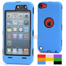 Dual Layer Heavy Duty Rugged 3-Piece Soft Hard Combo Case Cover for iPod Touch 5