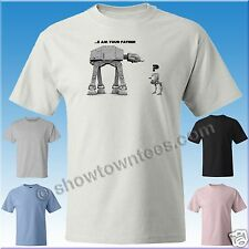Star Wars AT-AT & AT-ST - I am your Father Funny T-Shirt in 5 Colors M/W/Y Sizes
