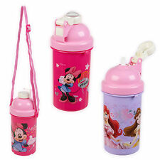 500ml Kids Disney Characters Flip Top Pop Up Drink Juice Water Travel Bottle