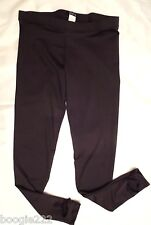 NWT Women Plan B.Dance Workout Fitness Yoga Skinny Tights Stirrup Black 112-OP