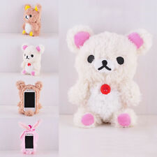 Beauty 3D Teddy Bear Cool Plush Toy Doll Cover Case For Apple Samsung Phones