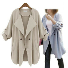 NEW Fashion Women's Loose Trench Double Long Sleeve Cardigan Coat Jacket Outwear
