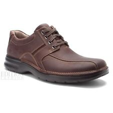 Clarks Northfield Mens Nubuck Leather Bicycle Toe Oxford Shoes Style 33985 Brown
