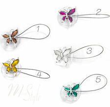 PAIR of Strong Magnetic Curtain Tiebacks Clip Holders Quality Butterfly Design