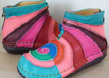 OH SO TRIPPEN hand made leather multi lollipop boot  5 6 7 7.5 8 /38 39 40 41 42