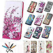 Magnetic PU Leather Wallet Flip Stand Case f iPhone 4 4S 5 5S 5C 6 6+ Plus 5.5''
