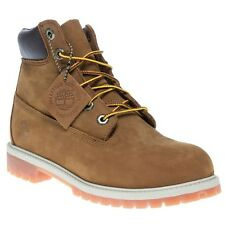 New Boys Timberland Tan Brown 6` Classic Nubuck Boots Lace Up