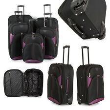 BARGAIN Lightweight Luggage Wheel Spinner Travel Trolley Cabin Suitcase - 5 Set