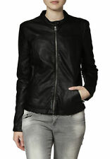 Womens Biker Cozy Quilted Custom Made Real Lamb Leather Jacket For Ladies WJ-14