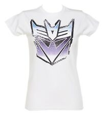 Official Ladies White Transformers Decepticon T-Shirt