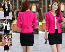 2014 new Womens Candy Color Basic Slim Foldable Suit Jacket Blazer CA WB