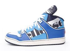 NEW MENS ELLESSE ASSIST MID HIGH TOP TRAINERS LEATHER RETRO DESIGNER BOOTS BLUE