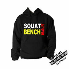 Squat Bench Deadlift Hoodie S-XXL Body Building, Gym, Weight Training
