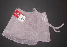 NWT Capezio Print wrap skirt style IM301 P/S Glittered striped deep rose fits Ch