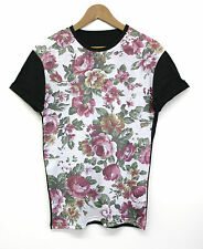 Floral Pattern Black All Over T Shirt Shop Top Tee INCT Apparel New Flower