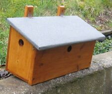 Handmade House Sparrow terrace- Hinged roof design bird nest box