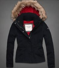 Abercrombie & Fitch - Woman Navy and Red KYLIE COAT JACKET Hoodies XS, S, M