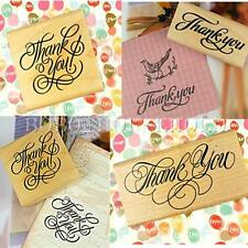 Thank You Card Making Rubber Wooden Stamp Scrapbooking DIY Craft Wedding Party
