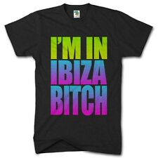 Im In Ibiza B**ch Funny Holiday Tshirt Party Clubbing Holiday Mens T Shirt Top