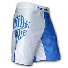Pride Or Die Fight Shorts Reckless schwarz-grau, weiß-blau MMA UFC Muay Thai BJJ