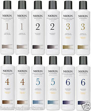 Nioxin 1/2/3/4/5/6 Cleanser Shampoo&Scalp Combo Revitaliser Conditioner 300ml