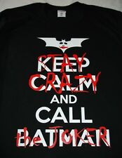 KEEP CALM AND CALL BATMAN - STAY CRAZY AND CALL THE JOKER BLACK T-SHIRT S-3XL