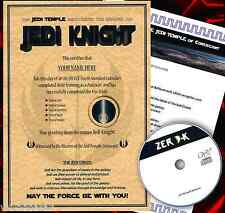 JEDI KNIGHT CERTIFICATE CHRISTMAS GIFT FOR GIRLFRIEND, BOYFRIEND, WIFE, HUSBAND