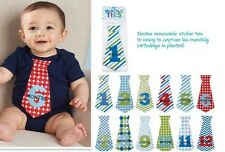 Mud Pie Birthday Boy Baby Boy Growth Milestone/Month Tie Outfit Stickers 1002005