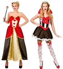 QUEEN OF HEARTS LADIES FANCY DRESS COSTUME STORYBOOK ALICE IN WONDERLAND OUTFIT