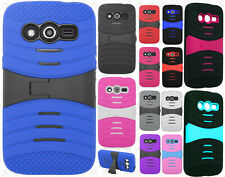 T-Mobile Samsung Galaxy Avant Hard Gel Rubber KICKSTAND Case Cover +Screen Guard
