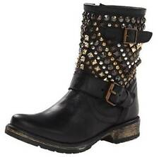 Women's Shoes Steve Madden MARCOO Fashion Boots Multi Color Studs Leather Black