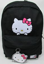 NEW!! VANS OFF THE WALL PEEKING HELLO KITTY BACKPACK BLACK PINK WHITE