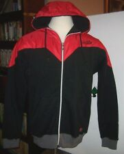 New LRG Lifted Research black red sweatshirt hoodie zip front jacket sz medium