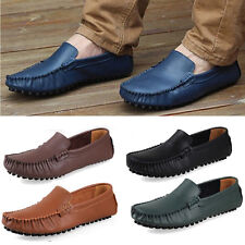 Genuine Leather  comfy Casual Men Driving Shoes Moccasins Loafers Slip-on shoes
