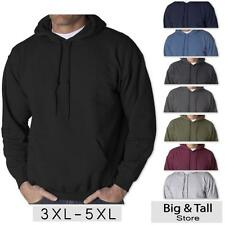 Big Men's Gildan Pullover Hoodie Sweatshirt Basic Sizes 3XL 4XL 5XL
