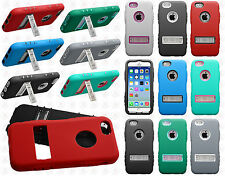 For Apple iPhone 6 4.7 Rubber IMPACT kickstand HYBRID Skin Phone Case Cover