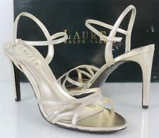 Women's Shoes LAUREN Ralph Lauren SAMMY Dress Sandals Platino Metallic