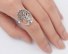 Tree of Life Rings Sterling Silver 925 Fashion Symbols Jewelry Selectable 3.6gr
