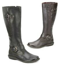 b.o.c. by Born Rich Leather Tall Riding Style Boots in Black and Brown