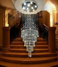New Modern K9 Clear Crystal Ceiling Light Pendant Lamp Chandelier Lighting #8936