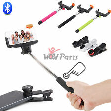 Bluetooth Extendable Selfie Monopod pole+Fish Eye Lens Kit for iPhone 6/5s/5c/4s