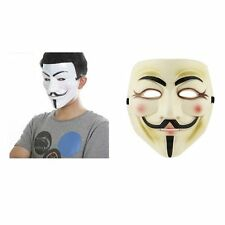 Unisex V FOR VENDETTA Guy Fawkes Occupy Anonymous HALLOWEE COSPLAY DRESS MASKS