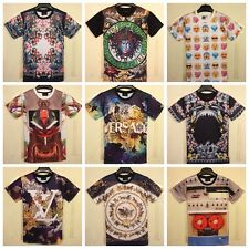 New 2014 Fashion Womens Mens 3D Ice cream Animals Round Top Tee T shirt TS02