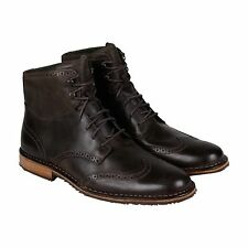 Sebago Mens Hamilton Brown Leather Casual Dress Lace Up Boots Shoes