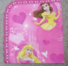 CRADLE/RECEIVING FLEECE BLANKET-CLASSIC DISNEY PRINCESSES-BELLE ARORA CINDERELLA