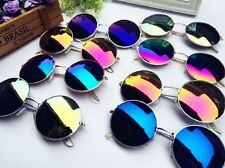 New Popular Vintage Retro Men Women Round Metal Frame Sunglasses Glasses Eyewear