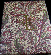 RALPH LAUREN  TABLECLOTH-REDDING/PAISLEY/PRINT-100% COTTON -ASSORTED SIZES