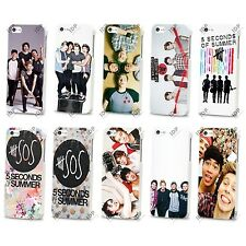 NEW 5 SECONDS OF SUMMER BOY BAND MUSIC HARD CASE COVER FOR APPLE IPHONE 4 5 5S