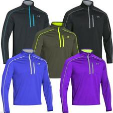 UNDER ARMOUR ELEMENTS JACKET - MENS 1/2 ZIP PULLOVER / SWEATER - INFRARED STORM